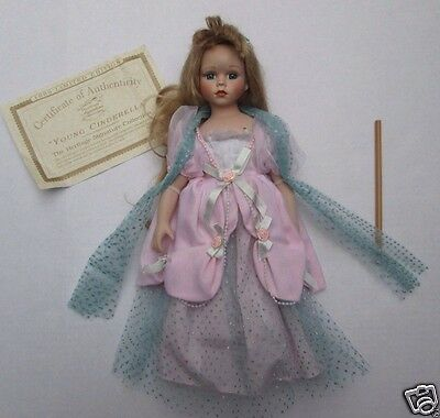 Cinderella Doll Heritage Signature Collection Heirloom Porcelain with COA