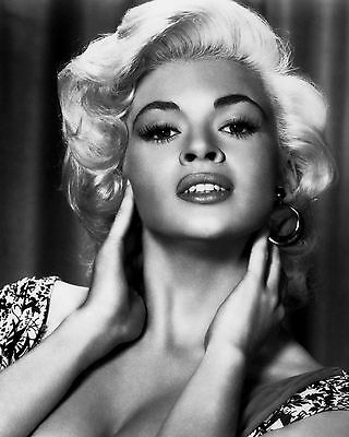 Jayne Mansfield 3 Film Actress Glossy Black & White Photo Picture Print A4