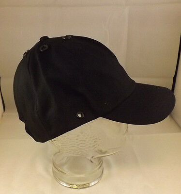 Job Lot x 25 Black Baseball Caps Hats 100% Cotton Adjustable Velcro By JSP NEW