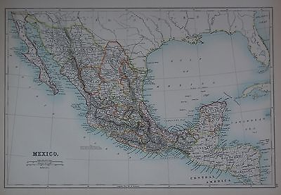 1897 Mexico Large Map