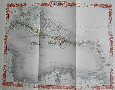 1860 West India Map Islands Rapkin