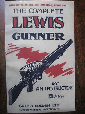 "1918 Lewis Machine Gun Manual Grandfather's ""Tools Of Trade"" WW1"