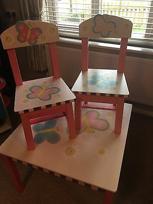 Girls Wooden Table And Chairs