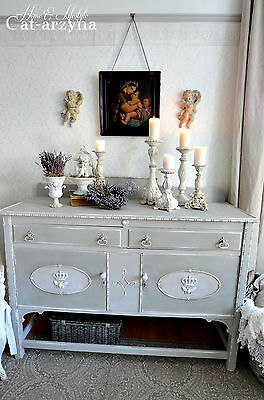 French Style Shabby Chic Painted Solid Sideboard