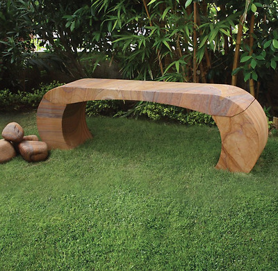 Curvo Natural Sandstone Bench Garden Furniture Seating Benches Patio Lawn Seat