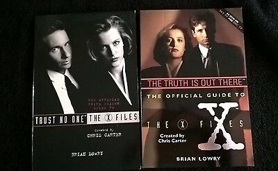 The X Files Official Guide – 2 Books: The Truth is Out There and Trust No One