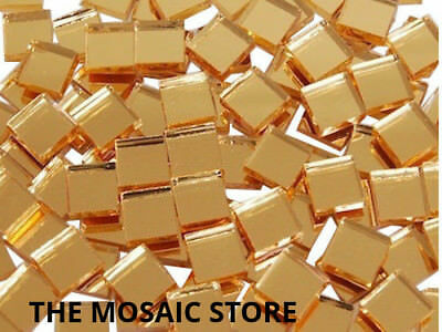 Gold Mirror Tiles 1 cm Square - Mosaic Art & Craft Supplies