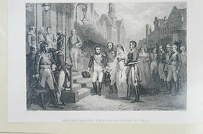 Druck Buchseite Napoleon receives the Queen of Prussia at Tilsit Colin (N 77)