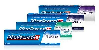 Pl/ Blend-a-med Toothpaste Set of 3x100ml Whitening Extreme Mint Herbal,  UK