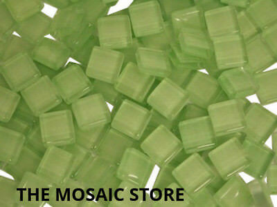 Light Green Crystal Glass Mosaic Tiles 1cm - Mosaic Tiles & Supplies