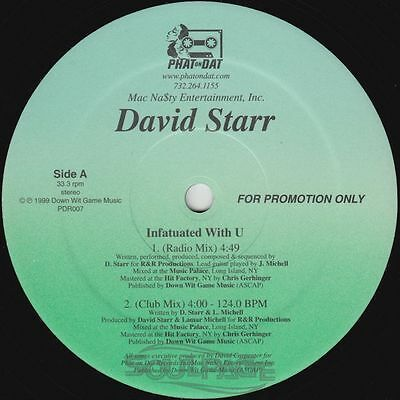 "David Starr - Infatuated With U - 12"" US Promo Keith Sweat NM/EX"