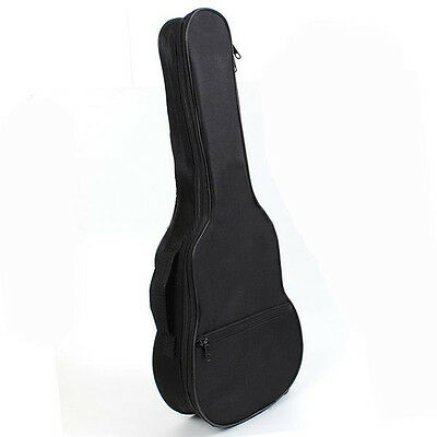 Ukulele Soft Comfortable Shoulder Carry Case Bag With Straps Black For Gift P9P7