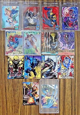 MARVEL Trading Cards 1994 1995 1990s Wolverine Spiderman Ironman Magneto