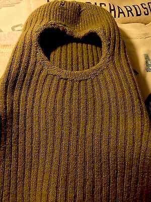 Ww1 Us Army Green Wool Pullover Face Mask! Mint! Small