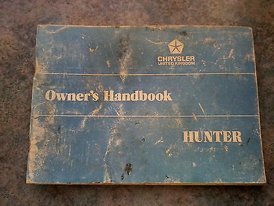 Hillman Hunter Owners Handbook  Gl Gls Gt  Rootes Group Chrysler  1973