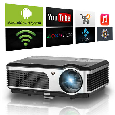 LCD LED Wireless Android Wifi HD Projector Home Theater Movie Game HDMI USB VGA