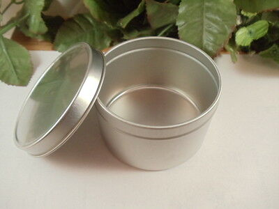 8 oz Deep Metal Tin Container with Lid - Great for Crafts and Storage
