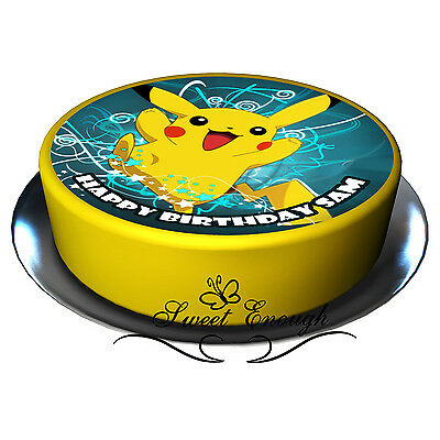 POKEMON GO Large Cake Topper Edible Icing Paper Birthday Personalised PARTY