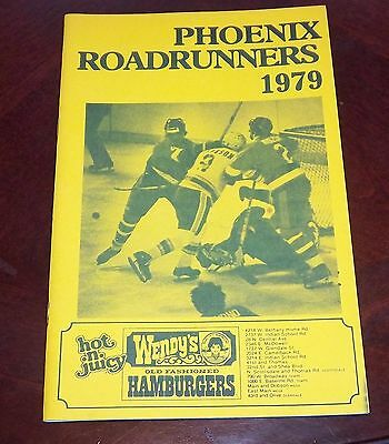 Phoenix Roadrunners  WHA year book player profile 1979   grab a piece of history