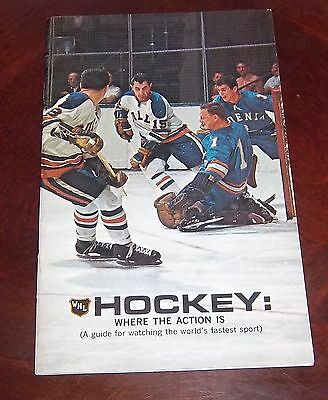 WHA United Airlines guide & schedules Trophys Stats1969  grab a piece of history