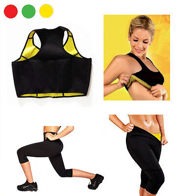 Completo Top E Pantaloncino Hot Shapers Sauna Dimagrante Fitness