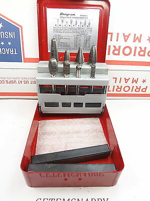 Snap On 8pc Solid Carbide Burr drill Bit Set VWB800C-1 Very Nice
