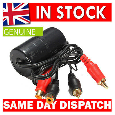 phono rca lead  Ground Loop Isolator Audio Noise Filter Unwanted Hum Inductor
