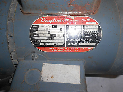 Dayton 1 HP electric motor 110/220 volts
