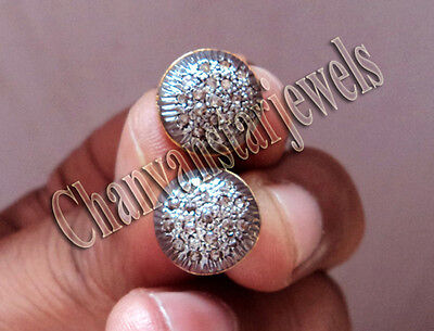 Victorian Style 0.44Ctw Rose Cut Diamond 925 Sterling Silver Stud Earring @CSJ35