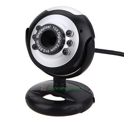 30M USB 6 LED Video Camera Webcam Cam With Mic Microphone For PC Laptop Computer