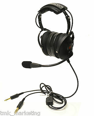 AH500 Aviation Pilot Headset by CanCom, PTT on cup, Dual Volume, NRR 24. NEW