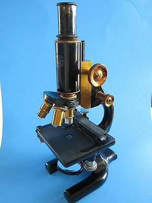 Vintage Spencer BUFFALO USA Microscope w Dovetailed Wooden Case #89133 1923-1925