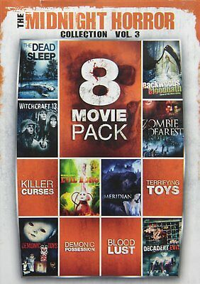 NEW 2DVD - Midnight Horror Collection - 8 MOVIES - Tracy Scoggins, Tommy Chong