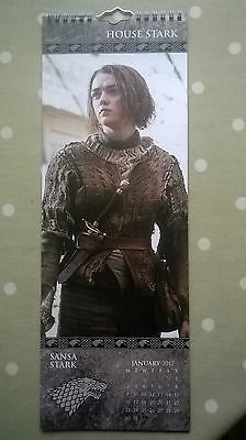 Game of Thrones 2017 Slim-Line Calendar. Arya Stark, Daenerys Targaryen.......