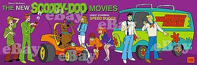 NEW!! EXTRA LARGE! SCOOBY DOO MOVIES SPEED BUGGY Panoramic Print HANNA BARBERA
