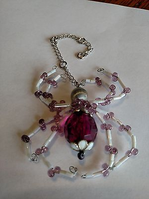 purple beaded spider