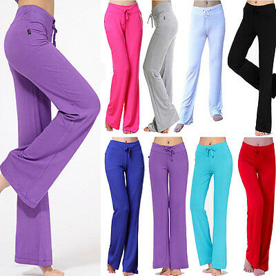 Women Sport Yoga Pants Fitness Exercise Running Trousers Dance Athletic Leggings