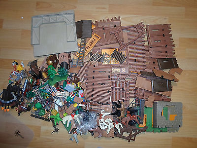 Playmobil diverse Western teile Cowboys usw +Fort Glory Shriff Ritter Waffen