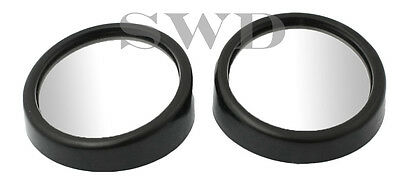 2pc Mini Blind Spot Mirror Set Car Wing Mirror Wide Angle View Self Adhesive
