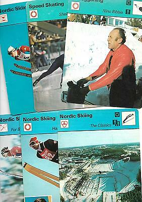 14 Winter Sports picture cards  Nordic Skiing, Speed Skating, Curling, Toboggan