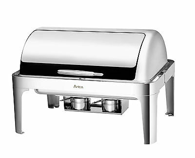 *new* Atosa At61363-1 Stainless Steel 8 Qt Roll-Top Full Chafing Dish Chafer Set