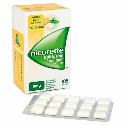 Nicorette 6mg Gum Nicotine 105 Pieces - Fruit Fusion Flavour (05/2018)