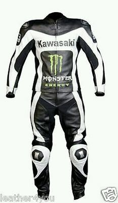 Kawasaki Motorbike Leather Suit Motogp Racing Motorcycle Leather Jacket Trouser