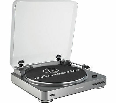 AUDIO TECHNICA AT-LP60USB Stereo Two speed Turntable Silver