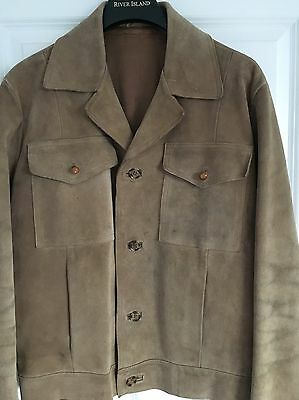 Hipster 1970s True Vintage Suede Leather Jacket Size 42