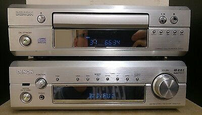 Denon DRA-F101 Hi Fi Component System Amp CD Tuner + Speakers