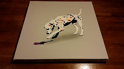 Kunstrasen Art Print Poster Original Canvas Painting Stencil Dog Most Dalmation