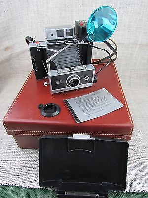 Vintage Polaroid Automatic 250 Land Camera w/Carry Case & Extras! Zeiss viewfind