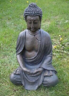 NEW LATEX RUBBER MOULD, MOLD  + fibreglass casing  of sitting buddha