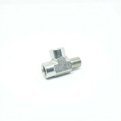 "Steel 1/8"" NPT Male Female Street Tee Fitting , Fuel, Air, Oil, FasParts"
